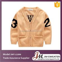 Boy cardigan sweater jacquard knitting Baby Toddler Clothing wholesale price