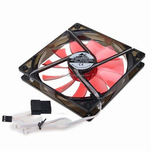 Computer Cooling Fan140x140x25mm 12V 24V 14025 Laptop Fan Cooler with 3/4Pin Red LED Light
