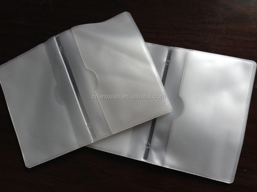 plastic clear display credit card foldername card holder - Plastic Credit Card