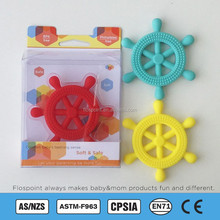 Silicone Teething Pendant Pearl, Anchor/Wheel/Seahorse/ Pendant Teething With PVC Package