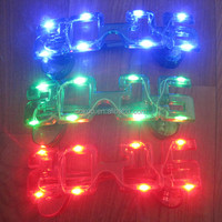 Plastic frame led glasses colorful New Year party Luminescent flashing light glasses