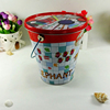New fashion wholesale metal bucket shape color pencil tin container