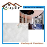 Building Materials Foil Back PVC Gypsum Suspended Ceiling