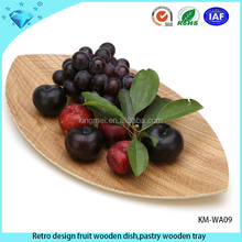 Retro design fruit wooden dish,pastry wooden tray