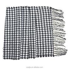Mens plaid pashmina shawl checked pashmina scarf