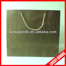 brown recyclable luxury printed paper bag with handle