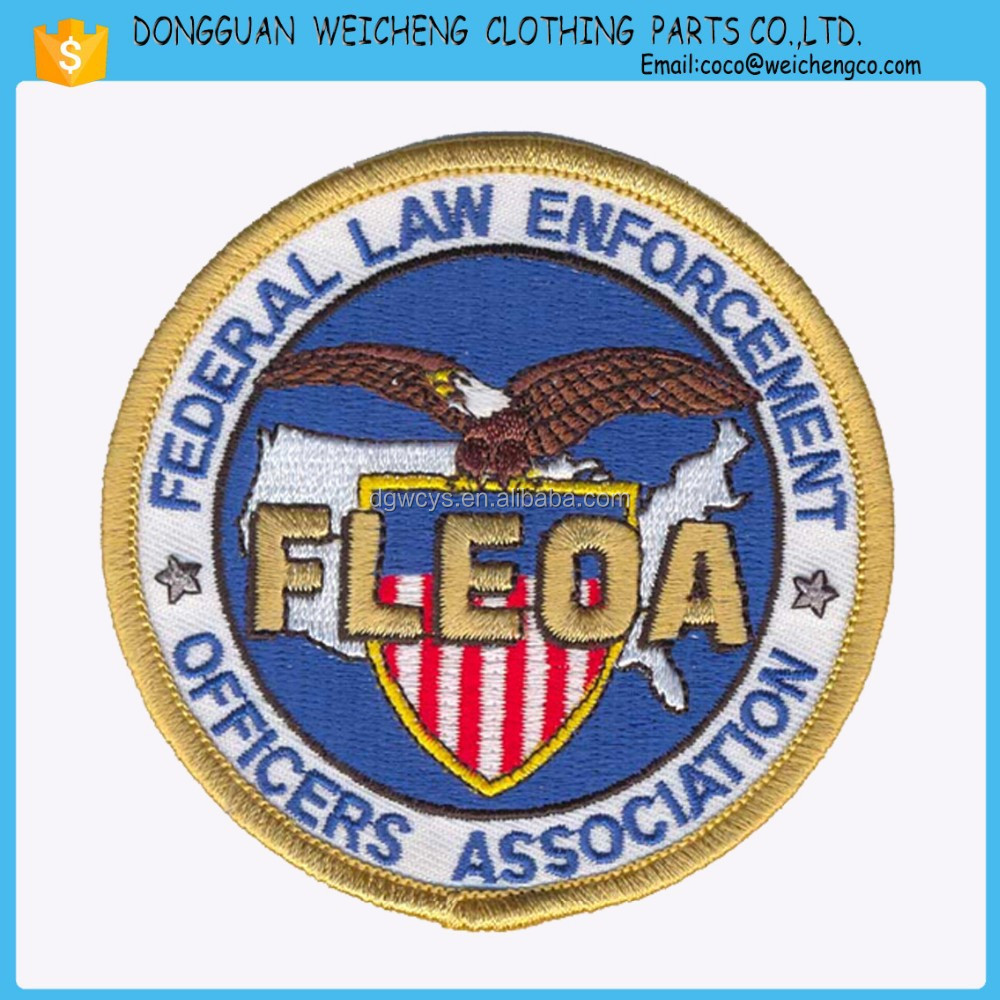 Custom made logo embroidery velcro patch for clothing