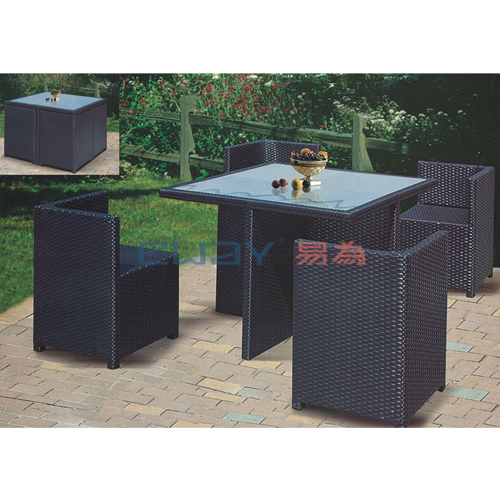 modern outdoor furniture restaurant rattan dining tables and chairs