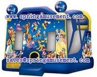 hot cartoon Inflatable bungee and slide inflatable combos on sale for kids SP-C4034