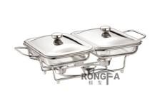dois dissipador de vidro buffet de comida do prato quente atrito pot pirex de vidro braseiro arcuisine acenox
