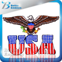 Embroidery Sew On Letters USA