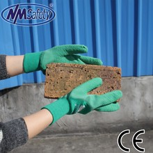 NMSAFETY 100% cotton coated latex led gloves wholesale china
