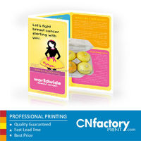 2015 full color folded brochure printing, cheap brochure printing for cosmetics, brochure printing service