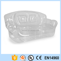 promotional customised inflatable transparent air sofa