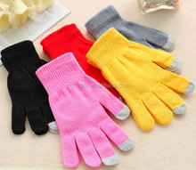 2015 smart 3 fingers soft touch Gloves for touch screen Smart Phone/ Tablet PC/iphone/ipad