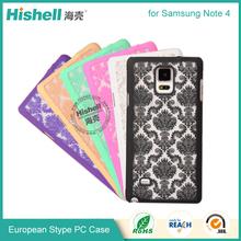 New Style Matt Royal Flower PC Mobile Phone Case for Samsung Note 4