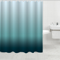 Fabric Shower Curtain mildew free color changing polyester fabric blue fancy shower curtain accessories curtain