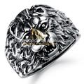 venta al por mayor de joyería de acero inoxidable anillos de león