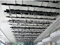 square artistic aluminum metal ceiling tile/color white