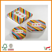 2015 Paper custom made mimi tiffany colorful gift boxes