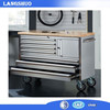 72 inch Rubber wood Top Tool Cabinet With Drawers And Wheels