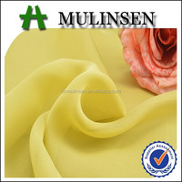 Mulinsen Textile Cheap Price High Multi 100% Polyester Plain Dyed High Twist 50D Plain Pure Chiffon Silk Fabric for Garment