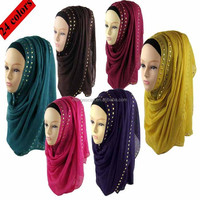 GDHH0070Hot sale 24 colors available cotton women long muslim hijab scarf muslim head shawl