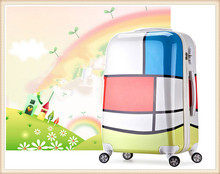 Retractable the ABS+PC waterproof sky travel comfortable trolley luggage 360 Degree rotational wheels