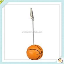 New fashion basketball shape photo memo holder plastic paper memo clip/Custm made plastic memo clips factory