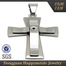 Fashion Design Personalized 2012 Wholesale Stainless Steel Cross Pendants