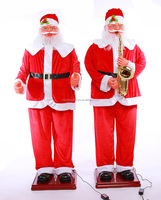 1.8m Christmas gift can sing Santa Claus big furnishing articles electric music man door ACTS the role of Santa Claus