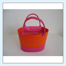 colored felt carrying shopping bag