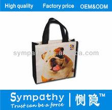 fido dog image shopping bag