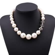 2015 New Design simple pearl necklace