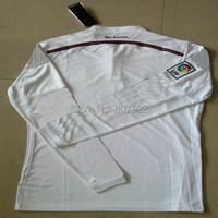 Новый сезон 14/15! Реальный Мадрид длинные дома белый футбол рубашка, вышивка logothailand качества Мадрид Джерси