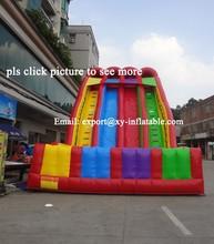 double lane slip rainbow inflatable slide large inflatable slide dry
