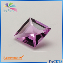 Facets Gems Lab Created Glass Rhombus Cut Light Rose Glass Gems