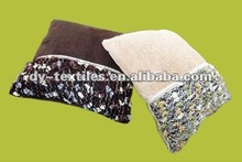 SOLID FLANNEL AND KINITTED FABRIC CUSHION