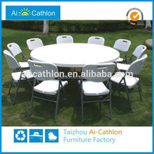 Outdoor plastic round dining table import furniture from china