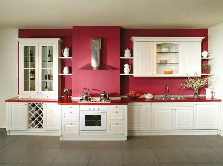 Rosa roja moderna mueble cocina diseños, mdf mueble cocina cocinas ...