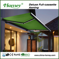 Dooya tubular motor and remote control full cassette electric awning