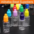 2015 nuevo estilo de vacío borrar 10 ML 30 ML cuadrado botella gotero de plástico PET para Vape