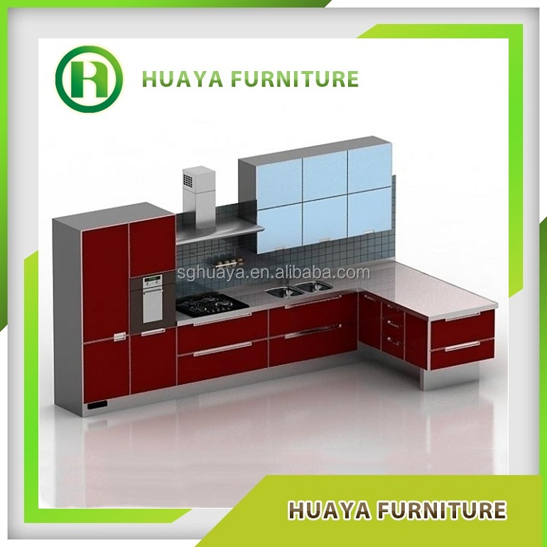 Factory price new model stainless steel commercial kitchen for Stainless steel kitchen cabinet price