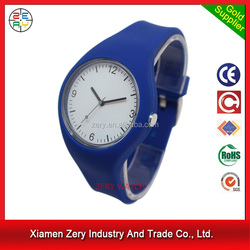R1096 Good quality simple fashion watches girls, fashion soft silicone strap wholesales watch case