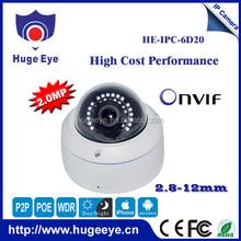 "Promotion 1/2.5"" SONY 2.0MP High-resolution CMOS Sensor security equipment ip camera Hugeeye p2p ip camera"