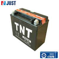 China high quality plastic housing mf lead acid motorcycle battery 12v 18ah