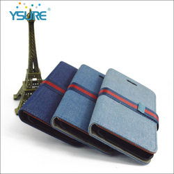Denim Leather case for Iphone 6 ,Special English nation flag pattern of Knitting button