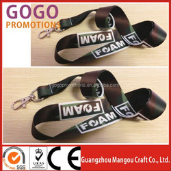 Braided promotional gift for neck straps wholesale, custom sublimation printing neck strap with oval hook for fair