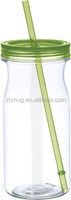 E PLASTIC WATER BOTTLE FOR KIDS WITH STRAW WITH 20OZ DOUBLE WALL MASON JAR