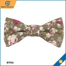 High quality Floral Design Hand Made bow tie t shirt